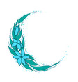 flower decorative element elegant floral garland vector image