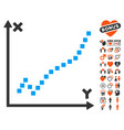 function plot icon with lovely bonus vector image vector image