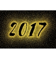 Glitter gold textured inscription 2017 vector image vector image