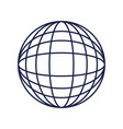 globe world sphere on white background vector image