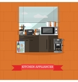 kitchen interior with vector image vector image