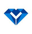 letter m diamond logo icon vector image vector image