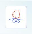 line massage icon isolated on white background