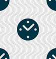Mechanical Clock icon sign Seamless pattern with vector image vector image