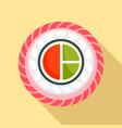 mix sushi icon flat style vector image