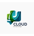 Modern cloud logo vector image vector image