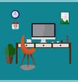modern design workspace vector image vector image