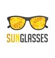 Modern sunglasses logo vector image