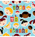 Multi-racial education pattern vector image