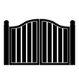 old gate icon black color flat style simple image vector image