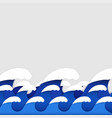 origami paper art style of sea waves vector image
