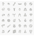 Outline web icon set - Party Birthday Holidays vector image vector image
