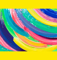 painting background of a colorful brush stroke vector image vector image