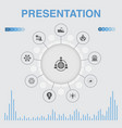presentation infographic with icons contains such vector image