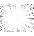 radial lines speed movement black vector image vector image