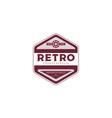 retro classic vintage garage logo design vector image