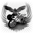 Rock n roll background and chopper vector image