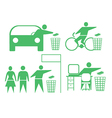 Rubbish icons vector image vector image
