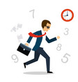 running after time vector image vector image