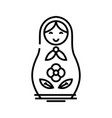 russian doll line icon concept sign outline vector image vector image