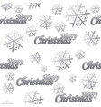 seamless pattern merry christmas silver logo vector image