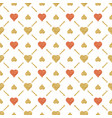 seamless valentines pattern with golden vector image vector image
