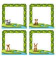 set animal on nature vector image