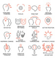 Set of icons related to business management - 37 vector image vector image