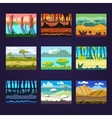 Set of Seamless Cartoon Landscapes for Game Design vector image vector image