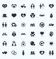 set of simple valentine icons vector image