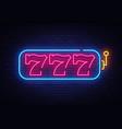 slot machine neon sign 777 machine