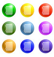 smart thermal house icons set vector image
