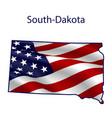 south-dakota full american flag vector image vector image