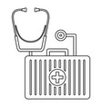 stethoscope first aid kit icon outline style vector image