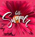 summer poster with handwritten text brush pen vector image