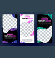 templates of vertical web banners of black color vector image