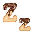 tempting typography font design 3d donut letter z vector image vector image