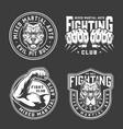 vintage mixed martial arts prints vector image