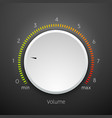 volume music control knob icon panel audio knob vector image vector image