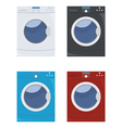 washing machine set vector image vector image