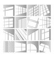 window lights set sunlight or vector image