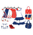 womens clothing and accessories vector image vector image