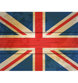 Wood planks union jack vector image vector image