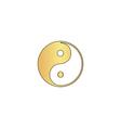 Ying-yang computer symbol vector image