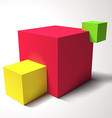 Composition with brignt colored cubes vector image