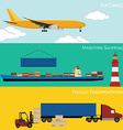 Logistic concept vector image
