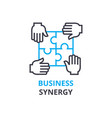 business synergy concept outline icon linear vector image
