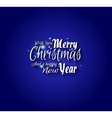 Merry Christmas and Happy New Year Type vector image