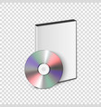 3d realistic blank cd dvd with cover case vector image vector image