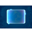 Abstract blue rectangle placeholder vector image